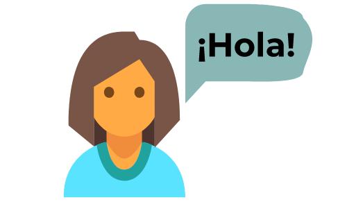 Woman learning Spanish via Skype