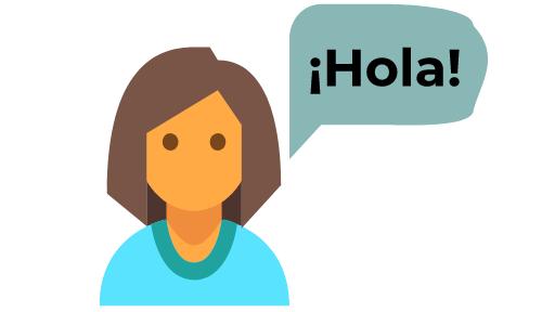 Woman learning Spanish